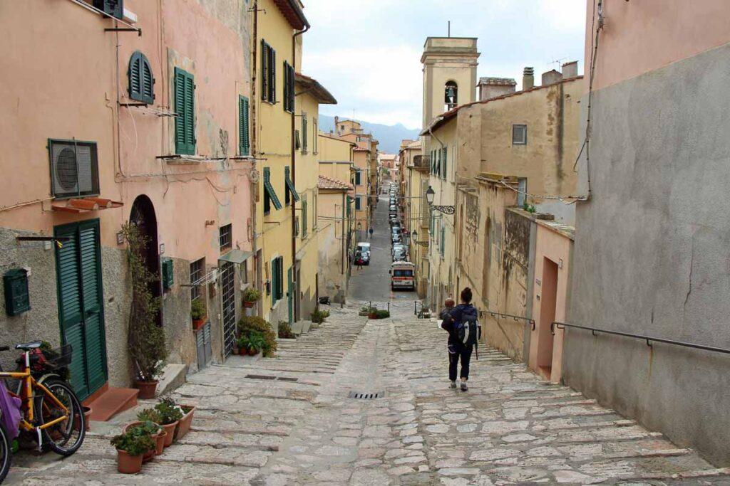 Exploring Portoferraio, Italy with a toddler