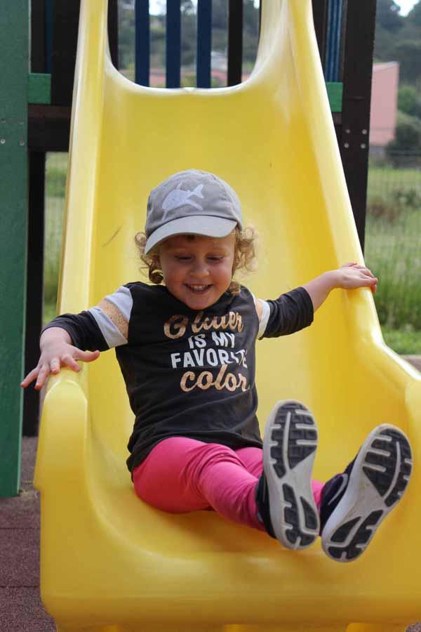 Big smiles at the Portoferraio playground