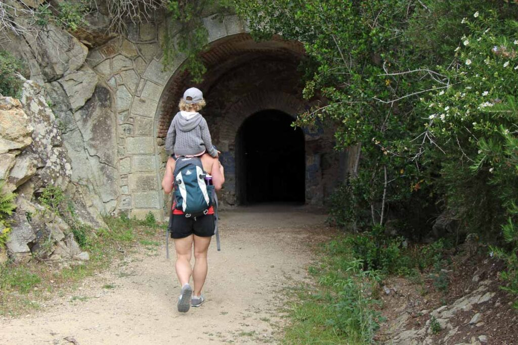 Exploring some of the WWII historical sites while hiking Capo d'Enfola on Elba, Italy