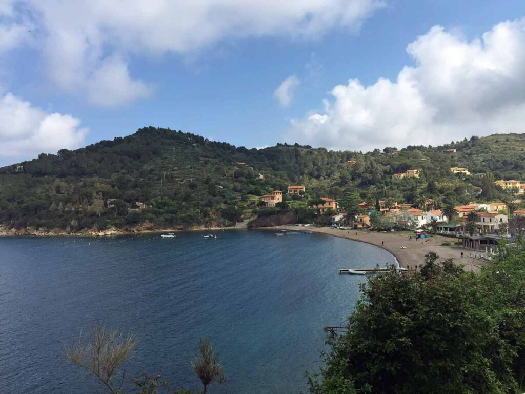 Approaching Bagnaia, Italy after a family bike ride from Portoferraio, Elba