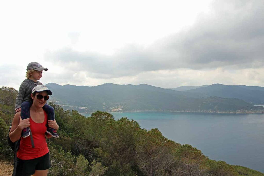 We enjoyed the views after the Campo d'Enfola hike