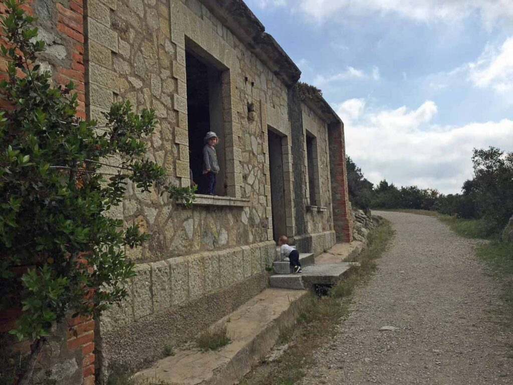 Our kids enjoyed exploring this abandonded building on the Campo d'Enfola hike on Elba Island, Italy