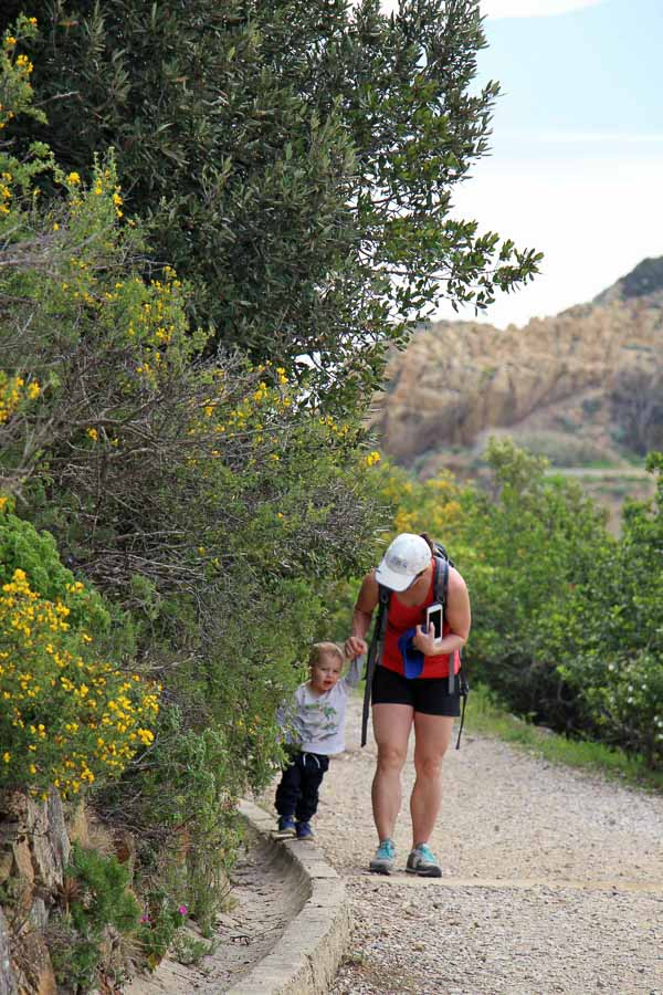 The short Campo d'Enfola hike was fun with kids