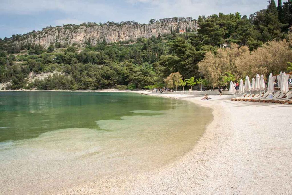 Kasjuni Beach - most beautiful beaches in Split Croatia