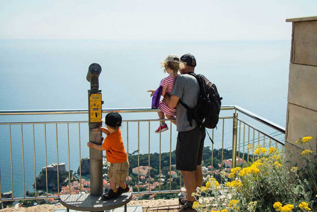 View point from top of Cable Car Mount Srd Dubrovnik - best things to do in Dubrovnik with kids