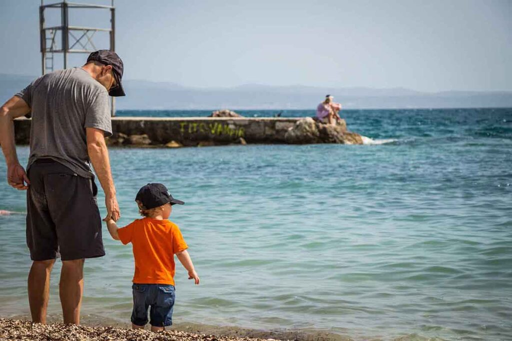 Ovcice Beach in Split Croatia - Split Croatia for families