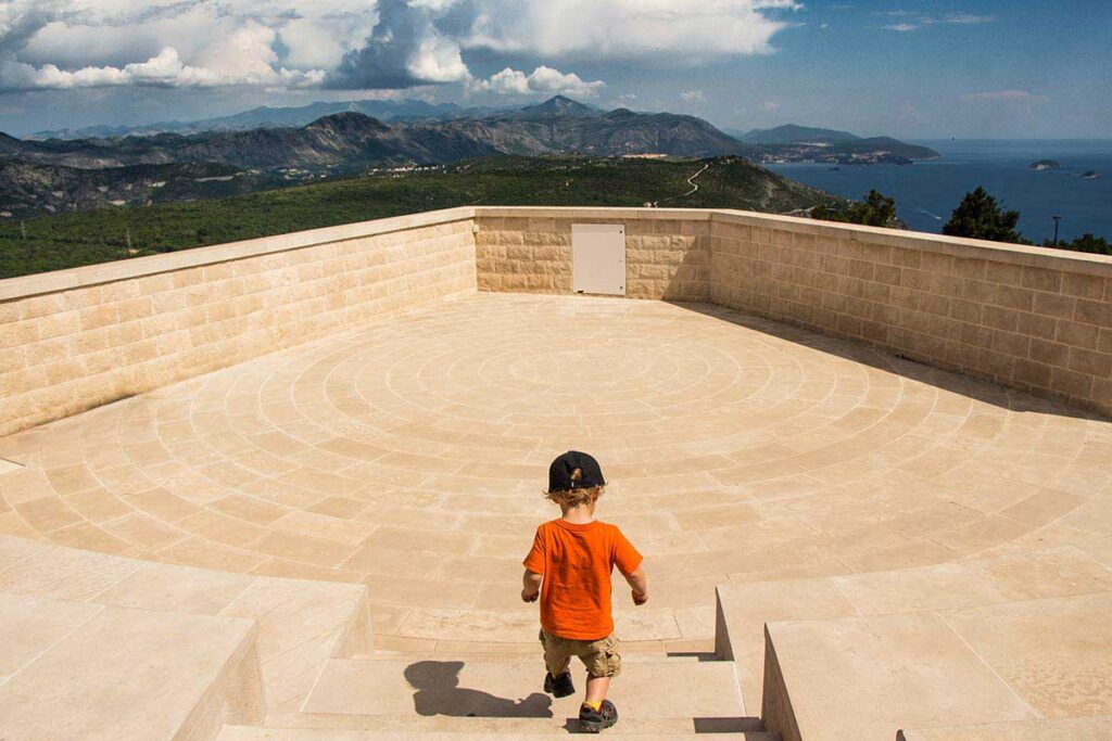 Top of Mount Srd in Dubrovnik - Things to do in Dubrovnik with toddlers