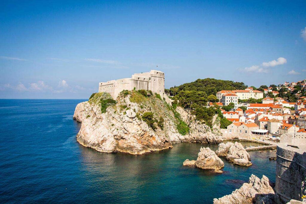 View from Dubrovnik City Walls - things to do in Dubrovnik Old town