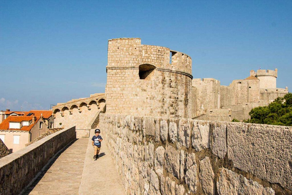 Walking the City Walls in Dubrovnik with a Toddler