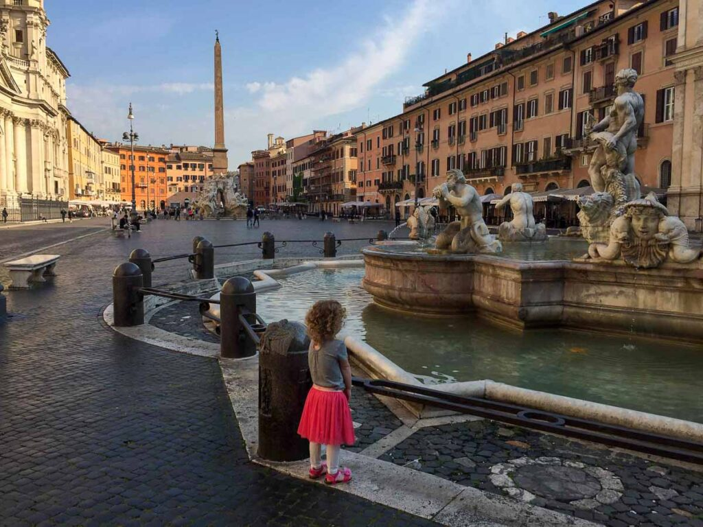 When visiting Rome with children, you can just feel them learning new things about the world