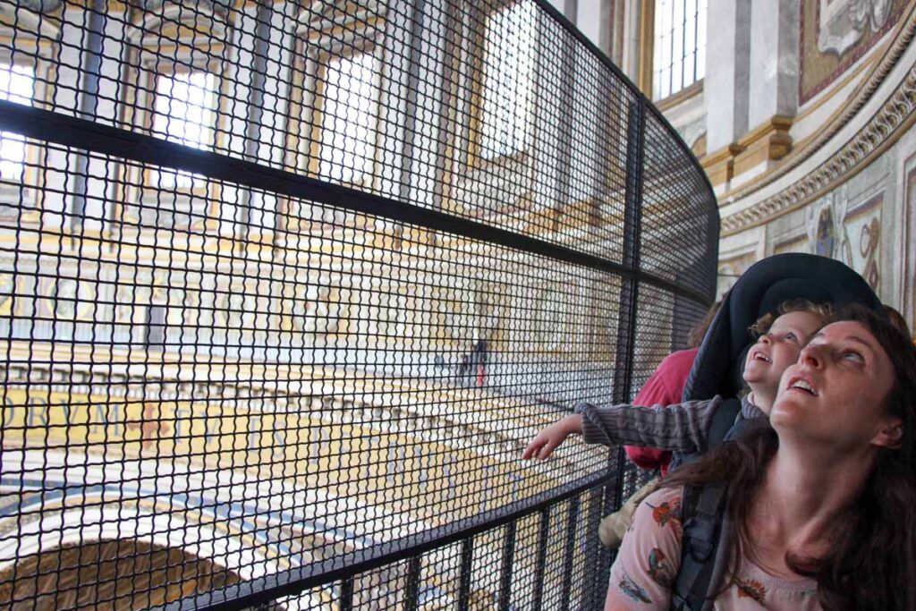 A look of wonder on a child after getting a ride to the top of St. Peter's Basilica dome
