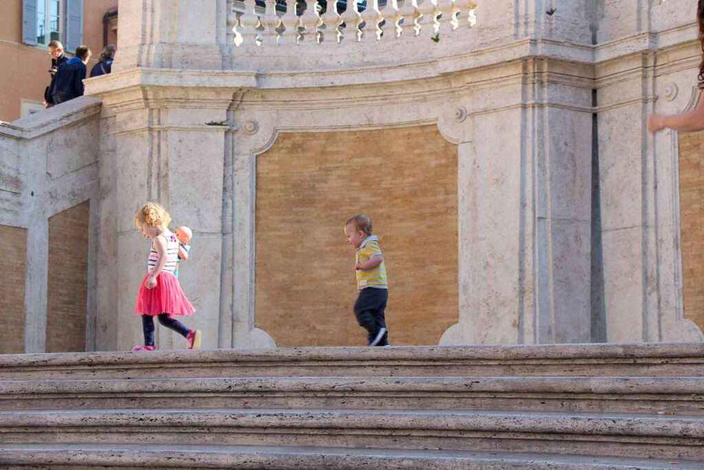If you arrive early, the Spanish Steps can be a fun family thing to do in Rome Italy