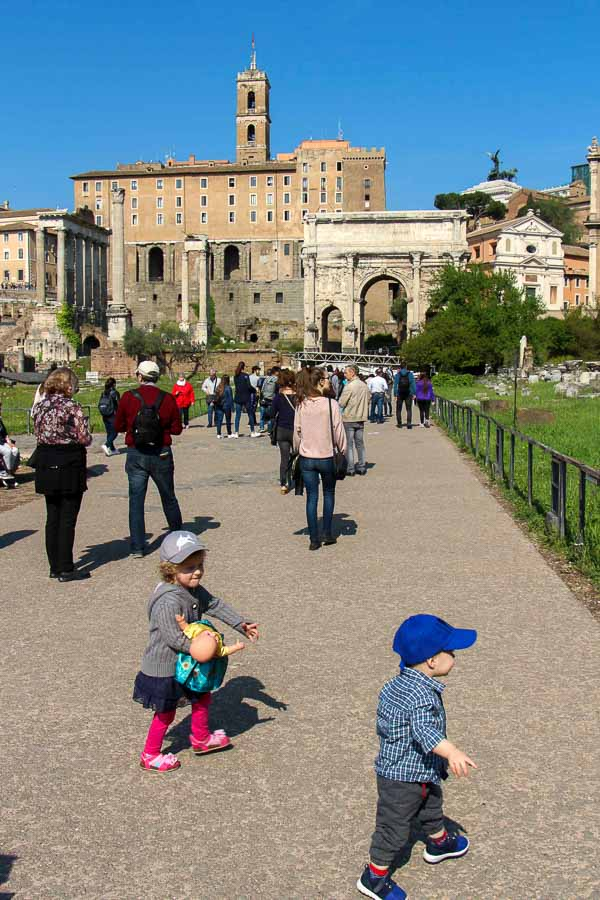 A 7 day Rome itinerary with kids needs to include a visit to the Roman Forum, but kids likely won't enjoy it. Take them to Palatine Hill after for some fun