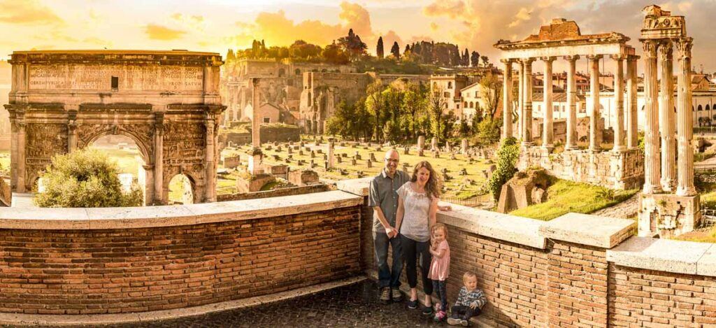 Getting professional photos taken of your family vacation to Rome Italy is an excellent souvenier - photo by Jake and Dannie