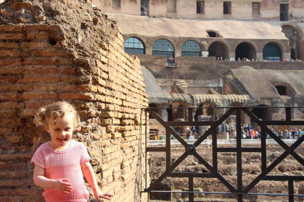 The Roman Colosseum was a fun Rome activity for kids