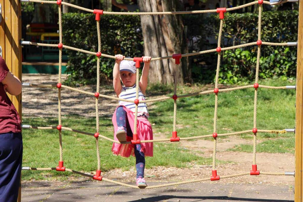 the kids enjoyed the Rome playground in Villa Borghese Gardens