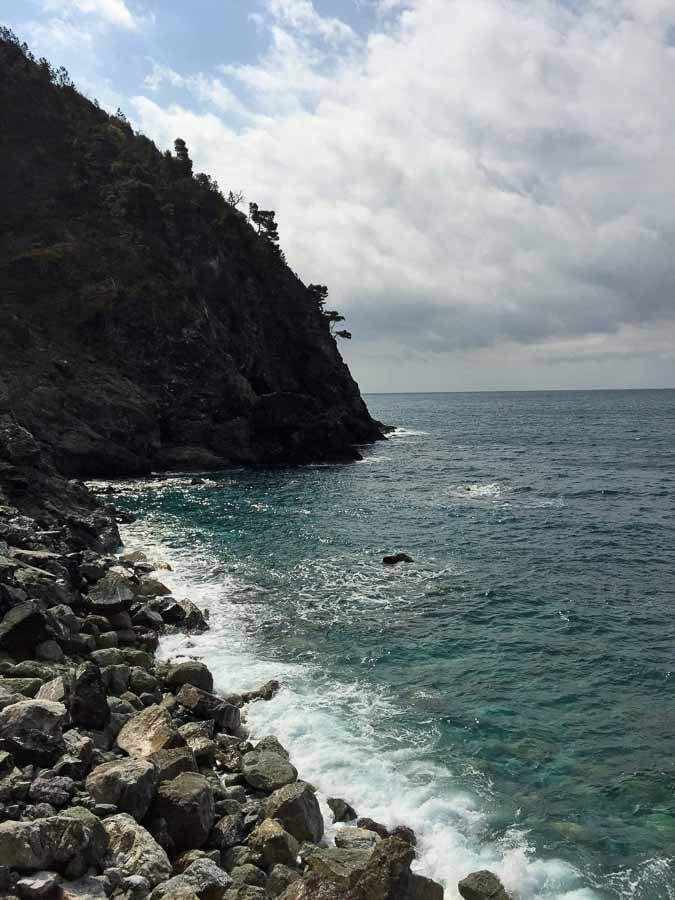 The Cinque Terre bike route from Levanto to Framura has amazing scenery of the Italian coastline