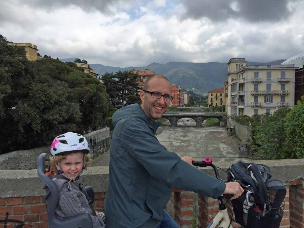 You can enjoy cycling Cinque Terre with kids with kid-friendly bike rentals in Levanto
