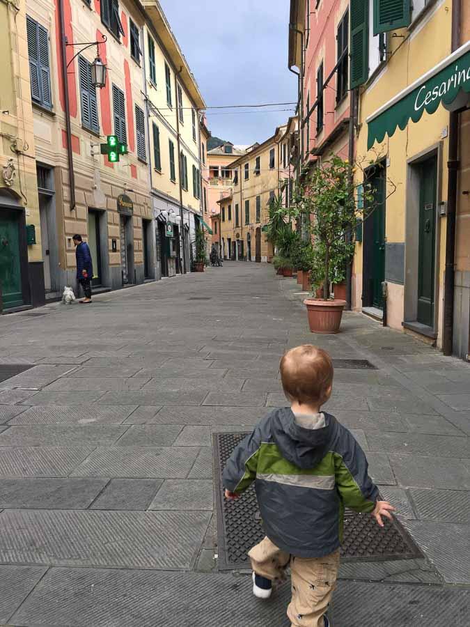 Exploring Levanto, Italy before our kid-friendly Cinque Terre bike ride