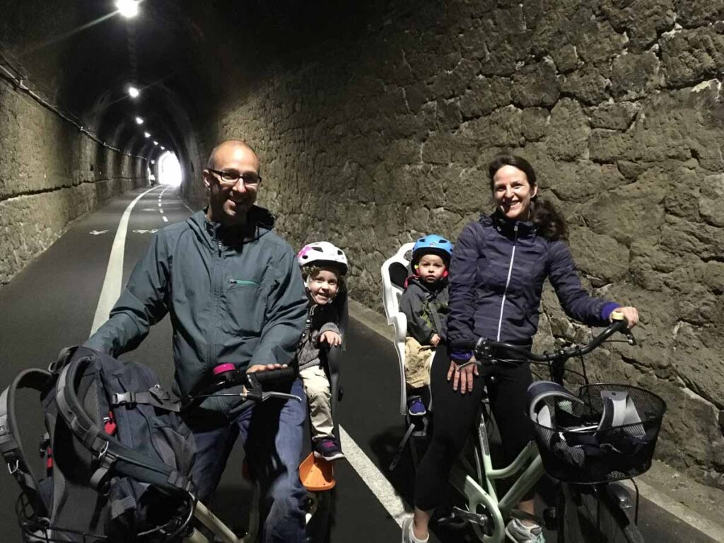 Cycling Cinque Terre with kids from Levanto to Framura