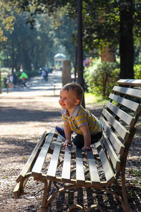 the Villa Borghese Gardens with kids is a great outdoor activity in Rome