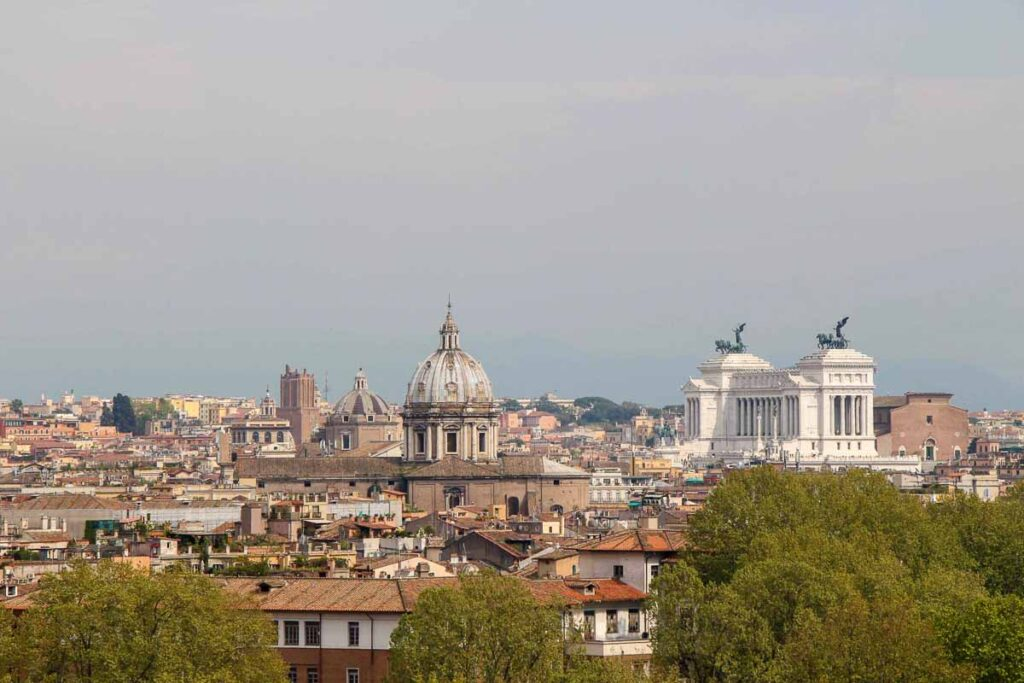 The easy Janiculum Walk in Rome was a great place to get arial views of central Rome