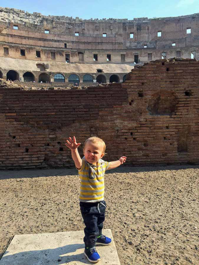 A visit to the Rome Colosseum with kids is an integral part of any family trip to Rome