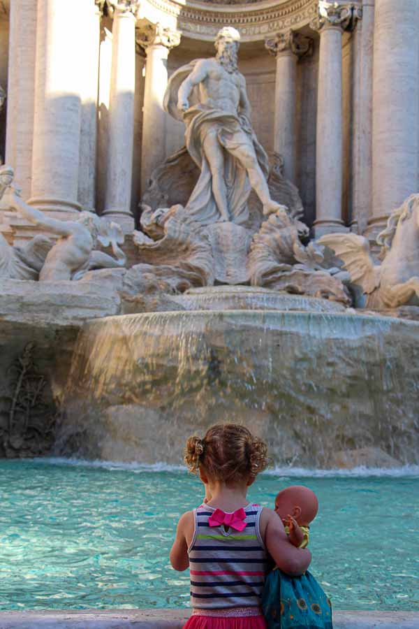 Even our kids noticed how beautiful the Trevy Fountain in Rome is