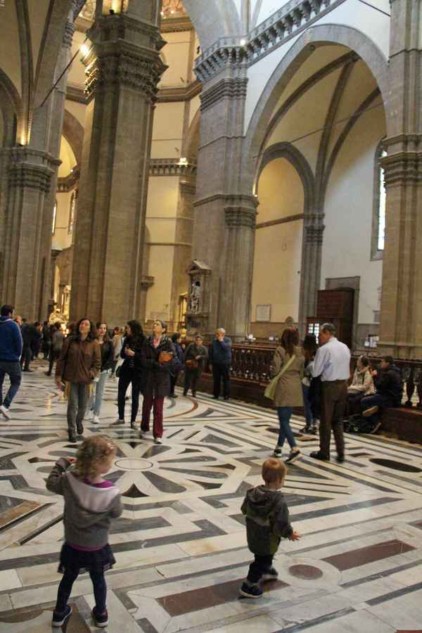 The Florence Cathedral is the largest church in Florence. Kids enjoy the size of these huge buildings