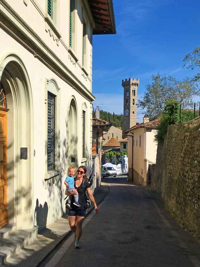 Fiesole is a fun day trip from Florence with kids