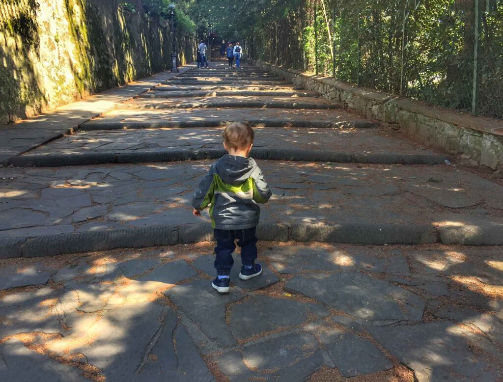 When visiting florence with toddler, take them to a park to burn off some energy