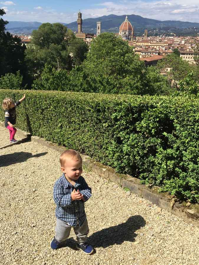 Visiting a garden in florence with toddlers is a fun activity