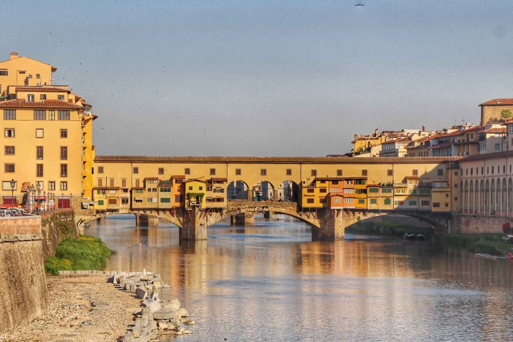 A walk across Ponte Vecchio is a good activity in florence with children