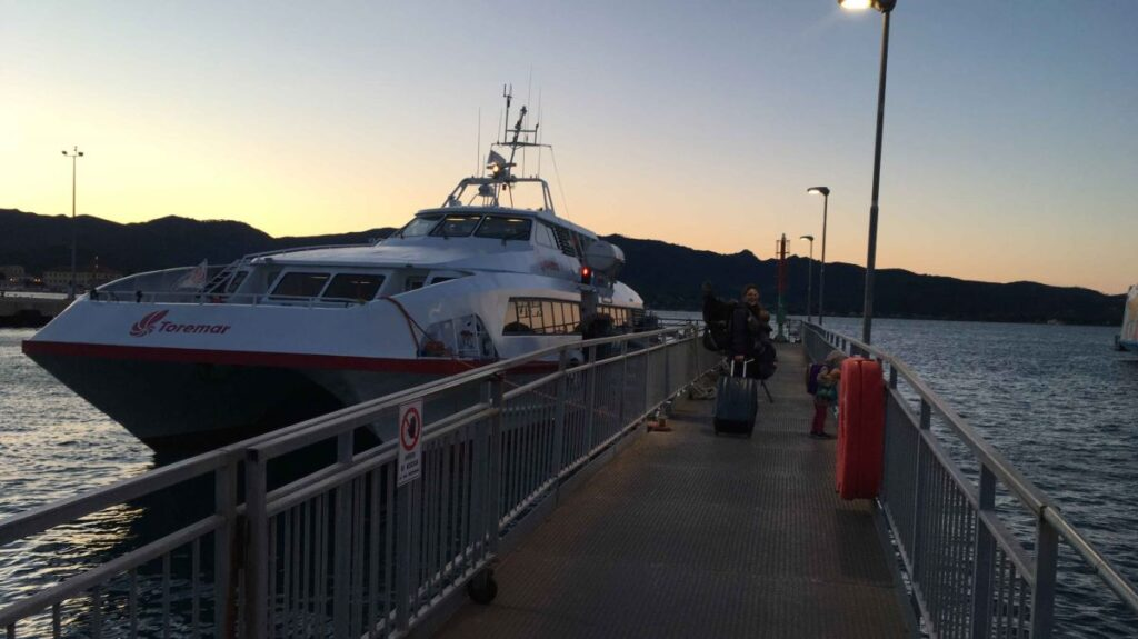 An early morning ferry from Elba to Piombino on our way to Monterosso, Cinque Terre