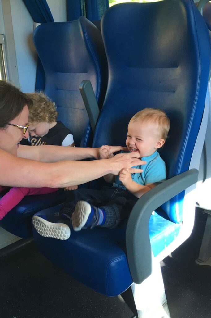 Taking the train in Italy with a toddler