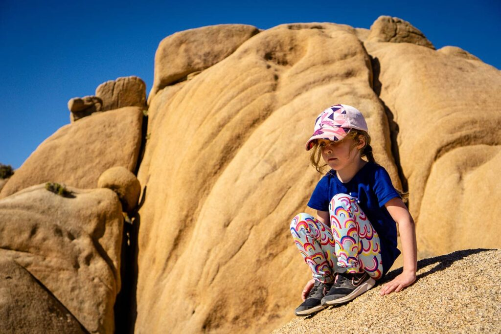 A sun hat is essential for safety while hiking Joshua Tree NP