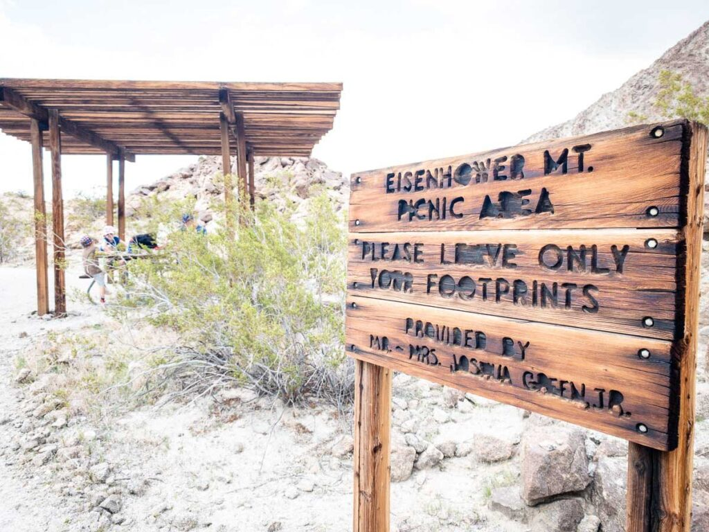 This Palm Desert Zoo picnic area is halfway up Eisenhower Mountain on the Wilderness Loop hiking trail