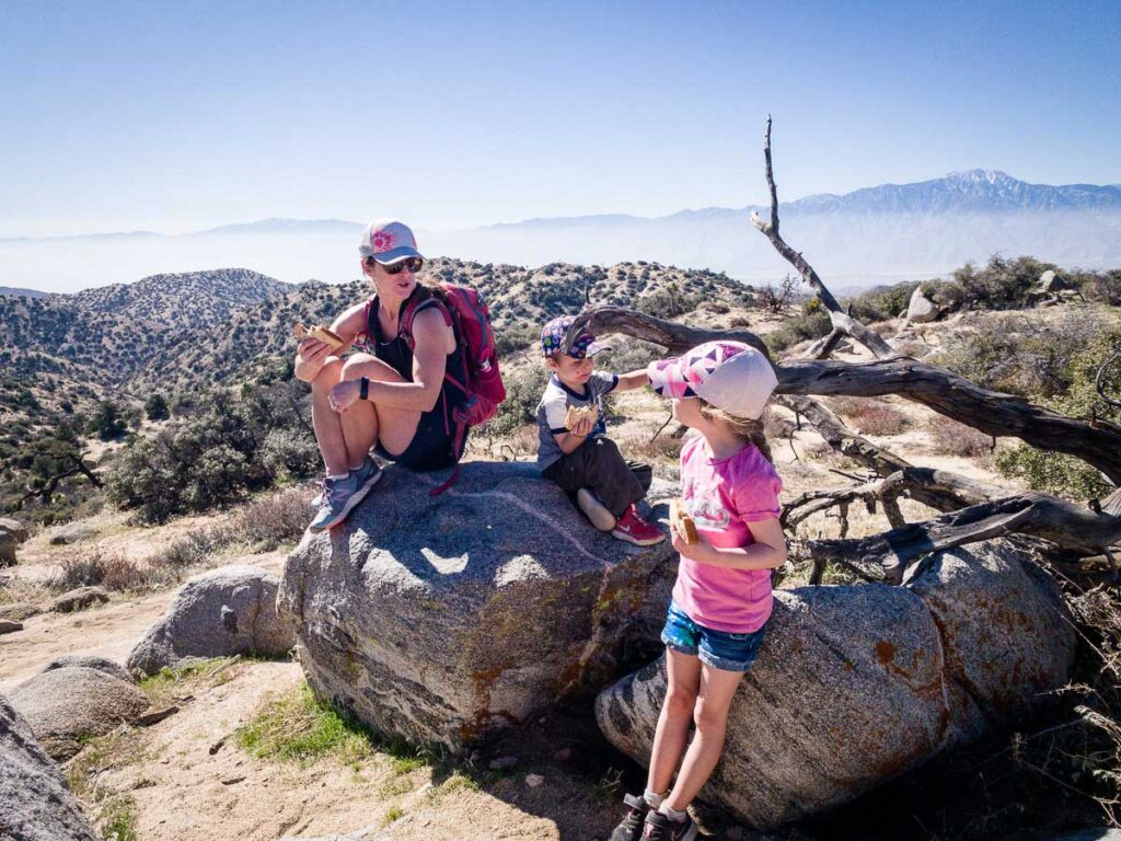 Excellent views of the Coachella Valley from the top of the Panorama Loop Hike