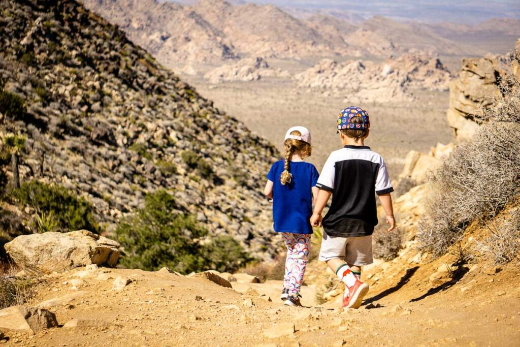 Hiking Ryan Mountain with kids is doable