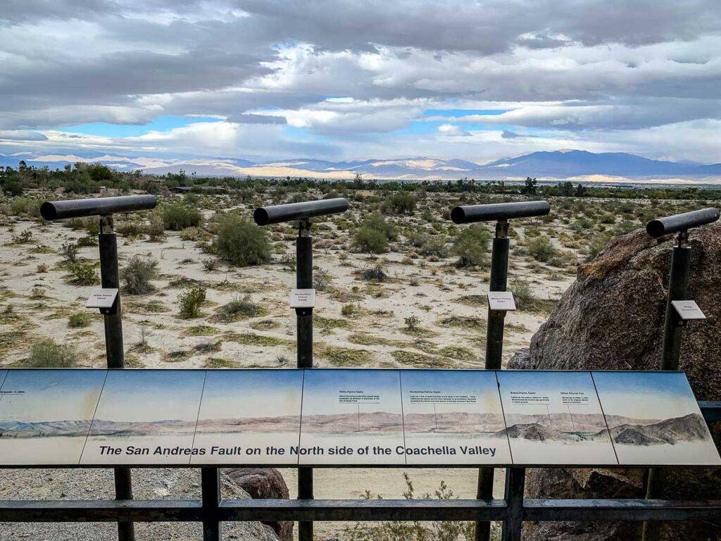 Teach your kids about the San Andreas Fault with the interpretive sign and viewing tubes on the Adventure Loop at the Palm Springs Zoo