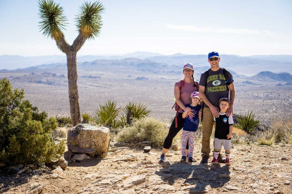 Joshua Tree family vacation ideas - Ryan Mountain hike with kids
