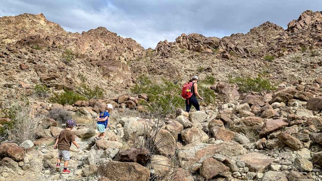 The rocky terrain on Eisenhower Mountain made the Wilderness Loop one of our favorite Palm Desert hikes