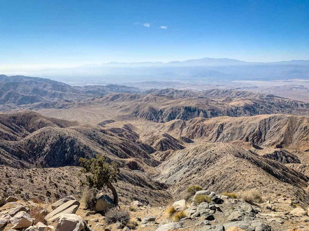 Coachella Valley as seen from Keys View Joshua Tree National Park