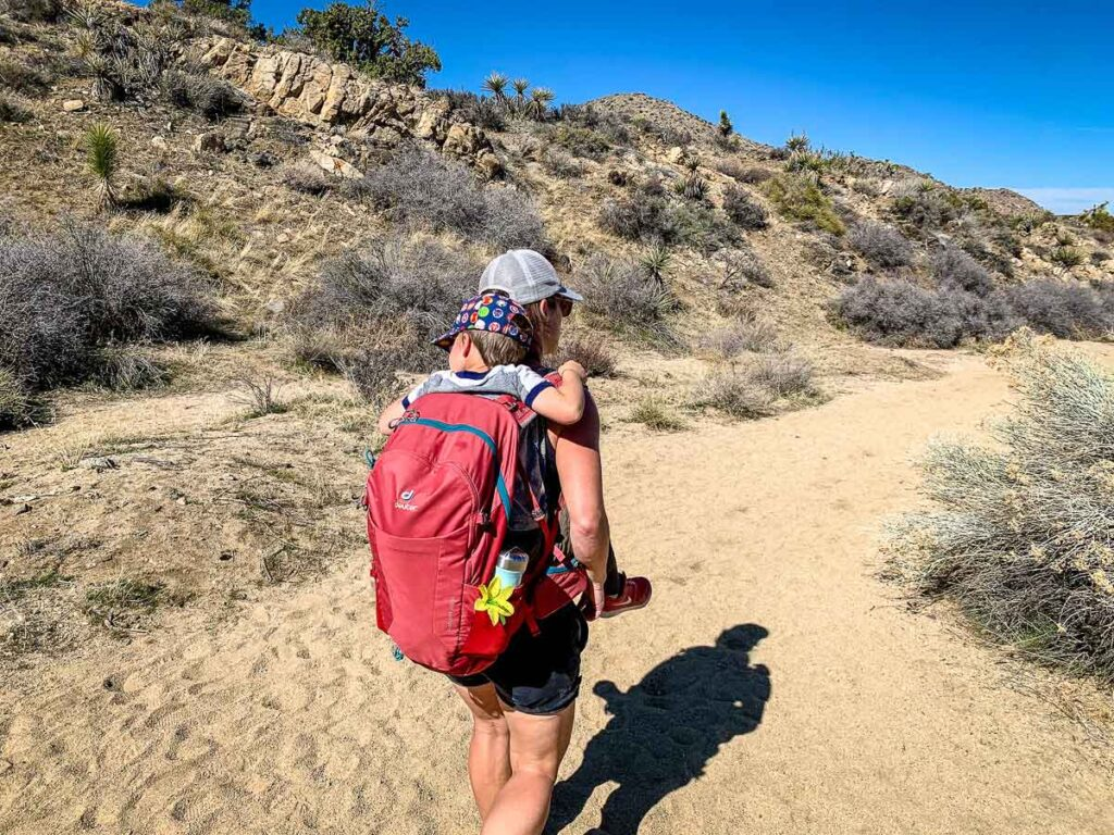 what to bring on Joshua Tree kid friendly hikes