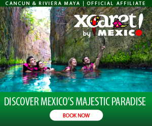 Advertisement for Xcaret by Mexico - Discover Mexico's Majestic Paradise