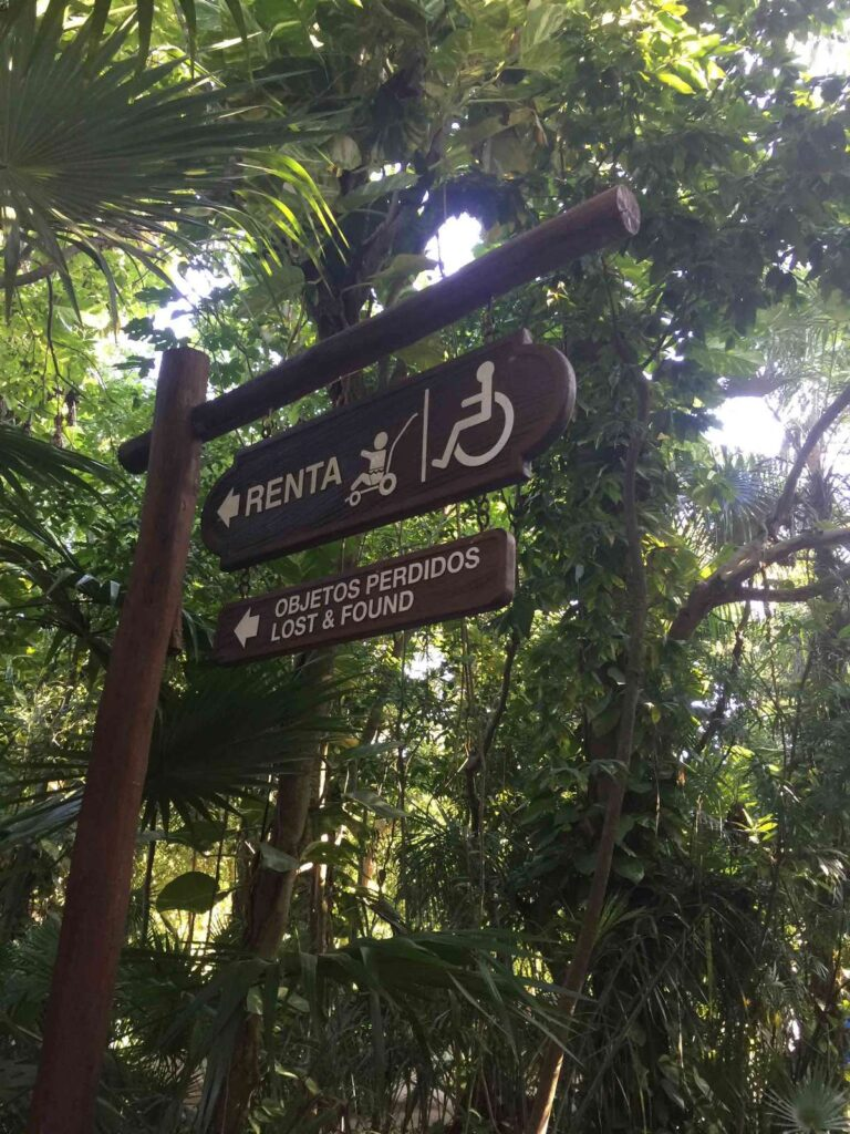 Parents will find the Xcaret strollers near the front entrance of the eco-park