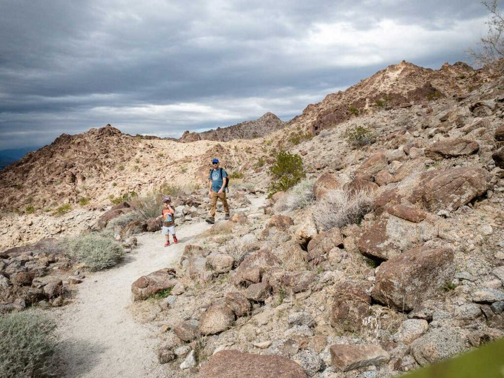 The Wilderness Trail was one of our favorite kid-friendly hikes in Palm Desert