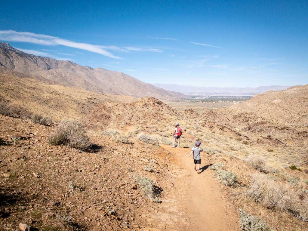 what to bring hiking in palm springs with kids