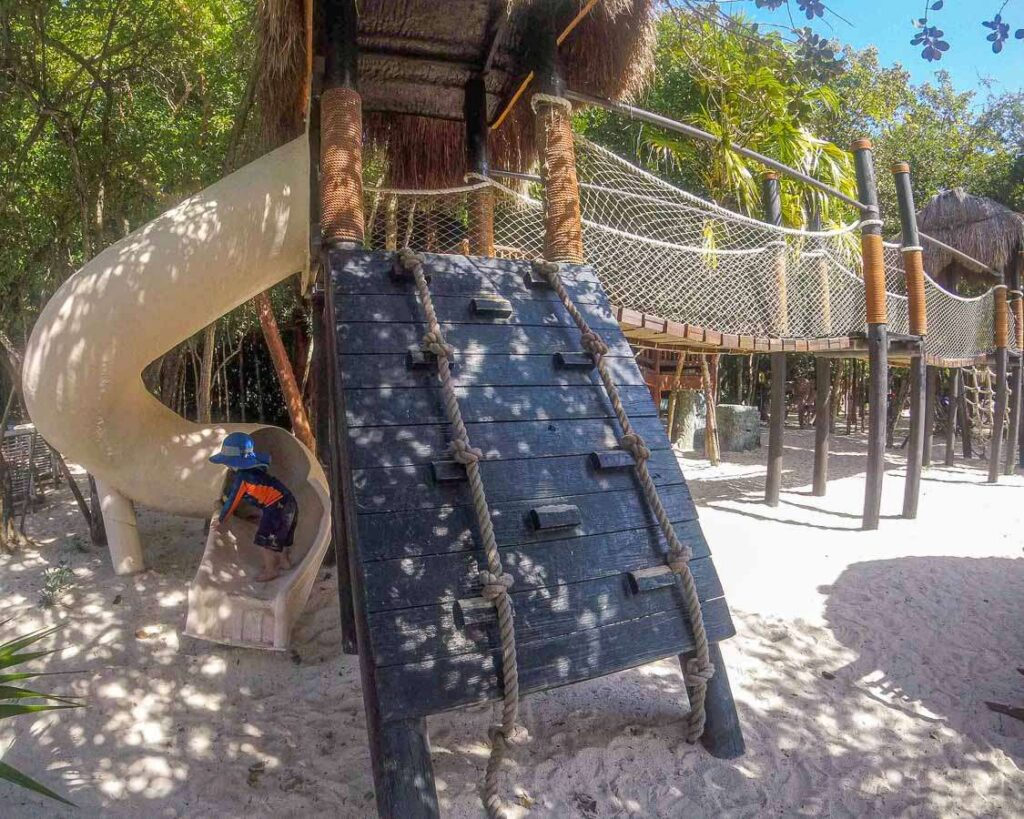 One of the best Xel-Ha park attractions for kids is the Children's World area