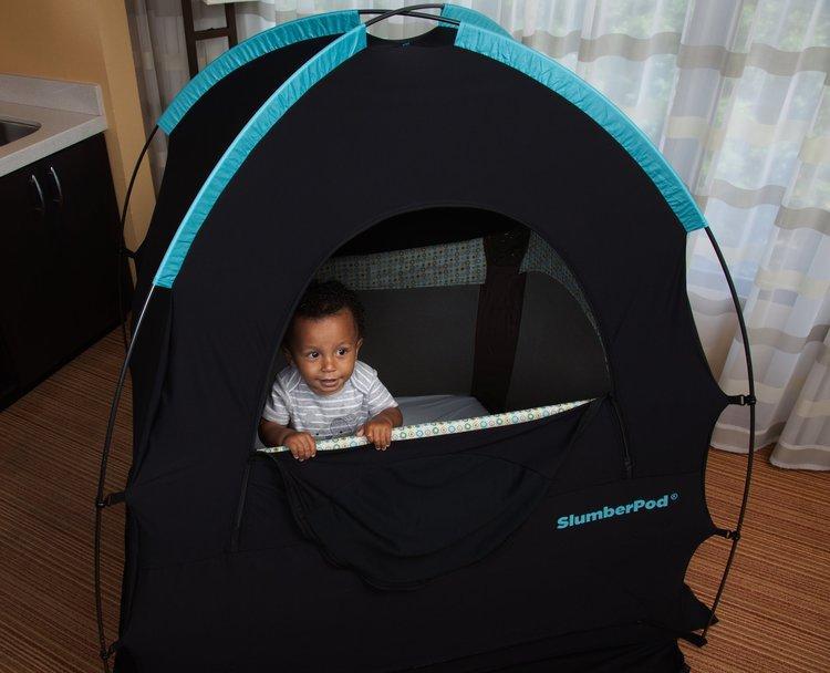 A SlumberPod will help your child sleep on your Croatia family vacation
